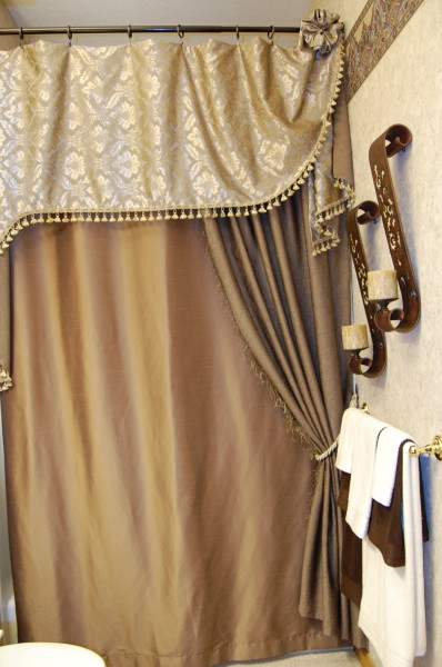 Custom Shower Curtain And Cornice Curtains